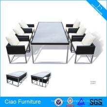 Wholesale meubles en osier 6 places table et chaises