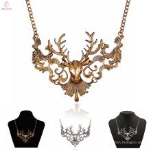 Benutzerdefinierte neueste Design Choker Deer Halskette, aushöhlen Vintage Erklärung Hirsch Halskette