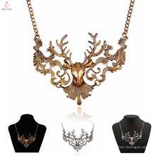 На Заказ Последние Дизайн Колье Ожерелье Олень, Выдалбливают Старинные Заявление Ожерелье Олень