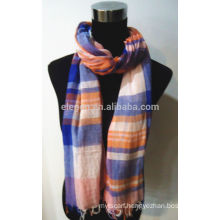 100% Cotton Plaid Pattern Scarf
