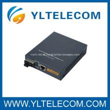 Conversor de mídia de fibra óptica monomodo 10 / 100M / 1000M