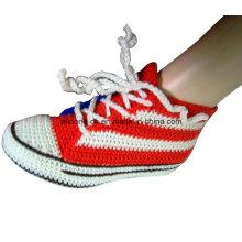 Симпатичные мягкие носки ручной работы вязать крючком кроссовки тапочки носки