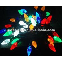 Lumières de Noël LED-fraise multicolore C7, lumière LED