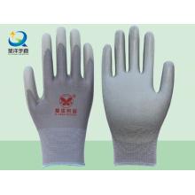 Серый полиэфирный вкладыш с серыми защитными перчатками PU