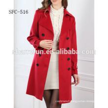 100% cashmere coat women fashion style