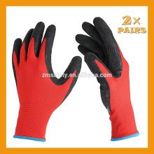 13Gauge Gestrickter Liner Palm Latexbeschichteter Handschuh Schwarzer Latexhandschuh Täglicher Arbeitshandschuh
