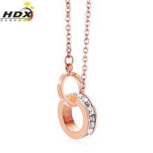 Moda de aço inoxidável jóias colar de diamantes