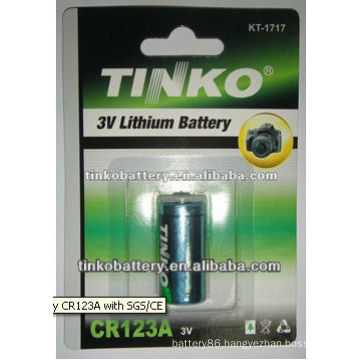 cr123a 3.0v 1300mAh Lithium battery with good quality
