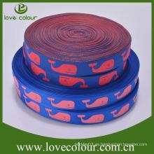 Cinta tejida al por mayor de encargo del paño de la cinta del bordado del telar jacquar