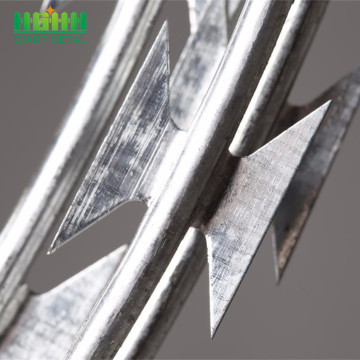 2018 jualan panas Hot Dipped Galvanized Razor Barbed Wire
