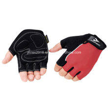 Cycling Half Finger Sports Bike Bicycle Cycle Sports Equipment Glove with Buckle Gel Padding Gift Mountain Bike Fingerless Sports Wear Jr509 Red