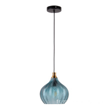 Lampe à suspension Indoor moderne couleur bleu