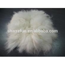 Sharrefun usine wholersale 100% épilée Spiky Angora lapin cheveux fibre White Super grade