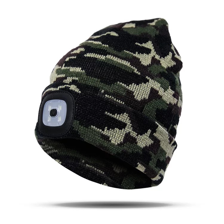 2018 Popular Led Beanie Hat With Lamp
