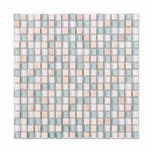 Glass Mosaic Art 15*15 Colorful Square Crystal Glass Mosaic Tile