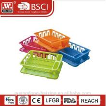 panier à vaisselle colorée avec plateau