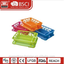 colorful dish rack with tray