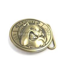 3D hebilla de cinturón en bronce antiguo chapado (cinturón hebilla-009)