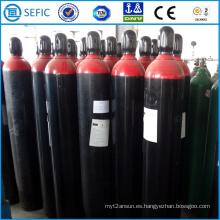 Cilindro de hidrógeno de acero sin costura de alta presión 40L (ISO9809-3)