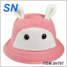 2014 Good Quality Wholesale Newest Custom Cartoon Kids Straw Hat