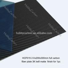 Quadros do zangão, folha matte da sarja de 3K / lustrosa da fibra do carbono, peças do corte do CNC