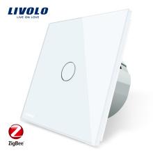 Новый Livolo Google Home Голосовое управление Zigbee Switches Сенсорный выключатель света VL-C701Z-11