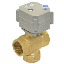 3way 1′′ Electric Control Valve with Mannual Operation (T25-B3-B)