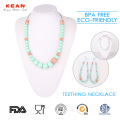 100%25+Safe+Silicone+Chewable+Baby+Teething+Necklace