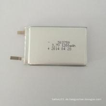 Mit PCB / PCM 3.7V 1200mAh Li-Polymer 503759 Batterie