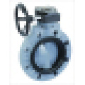 Válvula de borboleta plástica, válvula de borboleta de PVC / PP, engrenagem do sem-fim
