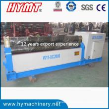 W11-8X2000 Mechanischer Typ 3 Walzen-Kohlenstoffstahl-Plattenbiegemaschine