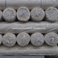 Tejido gris - 100% algodón cardado / 116 * 54 CD20 * CD20 / 2