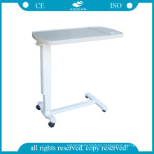 AG-Obt002 ABS Hospital Patient Over Bed Tables with Four Castors