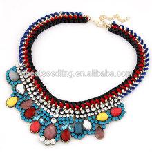 2014 europeus moda senhoras colar de diamante colorido turco colar