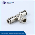 Aire-Fluid Brass Push in Run Tee Fittings.