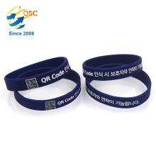bon marché Bracelet adapté aux besoins du client de silicone de code de qr qui respecte l'environnement