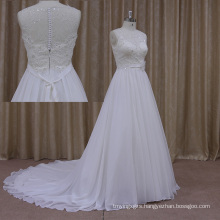 The New Thick Crystal Beaded Chiffon Wedding Dress
