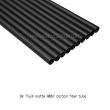 Tubulação de fibra de carbono T088 42x40x1000mm matte tecelagem 3k tubo de fibra de carbono suppiler a partir de China