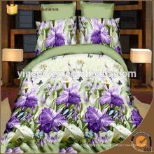 Tamaño de la reina tamaño de la reina doble tamaño de la flor dispersa conjunto de ropa de cama impreso