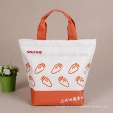 Pique-nique réutilisé isolé sac fourre-tout promotionnel de refroidisseur de déjeuner de polyester imprimé promotionnel sac d'épicerie
