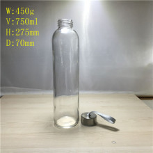 Glass Water Bottle 750ml