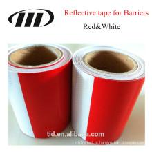 fita reflexiva branca e vermelha para barreira & barricadas, caminhões, adesivo reflexivo de aviso padrão de carro