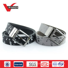 Print Reversible Buckle Men PU Belt