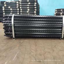 1.66kgs/m black bituman steel Y post with teeth