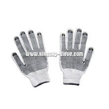 7g string gestrickte pvc doppelt punktiert handschuh (2407)