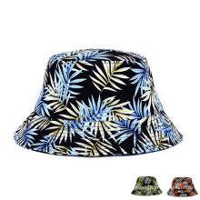 Lady Fashion Printed Cotton Twill Beach Bucket Hat (YKY3207)