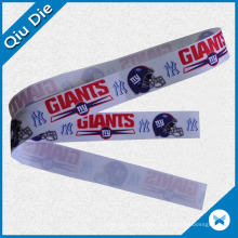 Advertised Grosgrain Ribbon Lanyard Printed with The Club Name