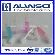 1mL Klarglas-Schalenfläschchen mit klarem Polyethylen-Schnappverschluss