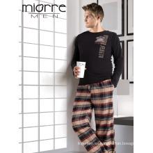 Miorre de manga larga de manga larga con mangas de pijama conjunto