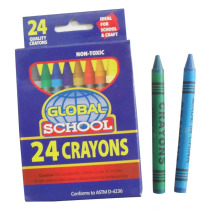 Los niños del creyón de cera 24pcs que pintaban el crayón coloreado del pigmento de parafina usado